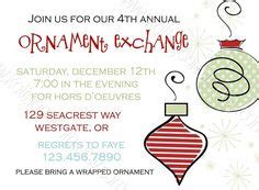 sle wording for ornament exchanges 1000 images about ornament exchange on invitations ornaments and