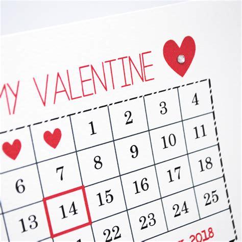Calendar 2018 Valentines Day S Day Card February Calendar 2018 Hvd005