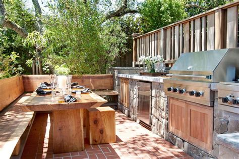 outside kitchen rustic outdoor kitchen designs