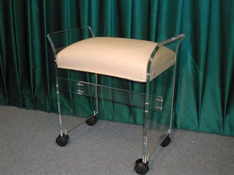 vanity chair for bathroom with wheels vanity seat with wheels perfect clear acrylic vanity
