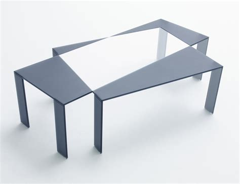 design milk coffee table one of a kind glass works exhibition by nendo design milk