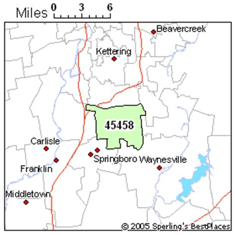 zip code map dayton ohio best places to live in dayton zip 45458 ohio