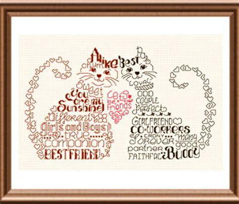 cross stitch pattern generator words let s be friends cross stitch pattern words