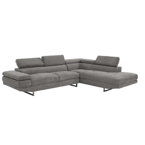 el dorado furniture sofas taheri gray sofa w right chaise el dorado furniture