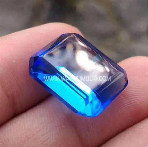 Batu Akik Obsidian Hijau Mahkota batu permata obsidian biru kode 435 wahyu mulia