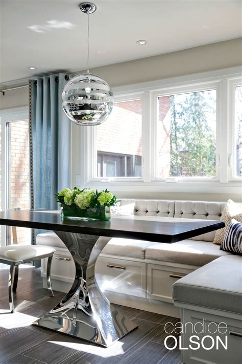 kitchen banquette layout the challenge create seating for groups within a small