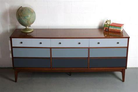 mid century modern painted 60 s stunning 9 drawer dresser