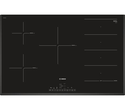 induction heating hobs buy bosch pxv851fc1e electric induction hob black free delivery currys