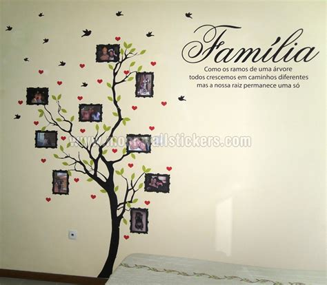 picture stickers for walls family tree with photo frames wall sticker with quote in