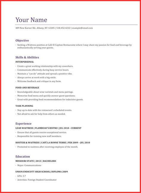 Waitress Application by Waitress Application Resume Format