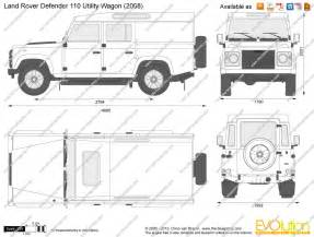 blueprint with dimensions land rover look
