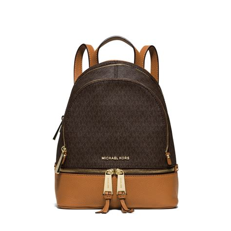 Michael Kors Rhea Backpack michael kors rhea small backpack in brown lyst