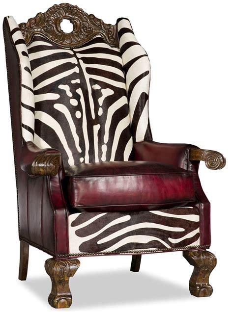 Zebra Chair by Wingback Throne Club Chair Zebra Design