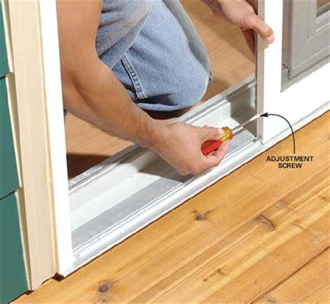 Adjusting A Sliding Screen Door So It Does Not Stick Adjusting Sliding Patio Doors