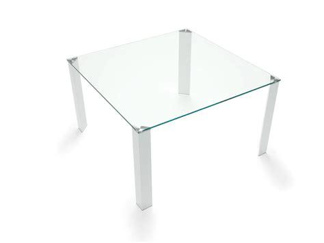 tavolo quadrato vetro tavolo quadrato in acciaio e vetro jean square by sovet italia