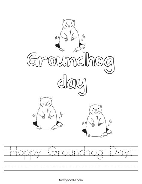 groundhog day lessons happy groundhog day worksheet twisty noodle