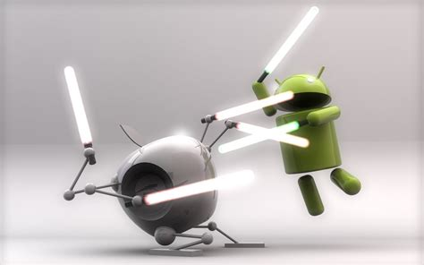 android wars punch android vs ios with lightsabers