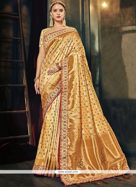 Sari Gold buy gold traditional designer saree wedding sarees