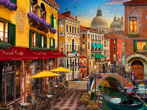 Puzzle Wharf Italy Flavor venice caf 233 jigsaw puzzle puzzlewarehouse