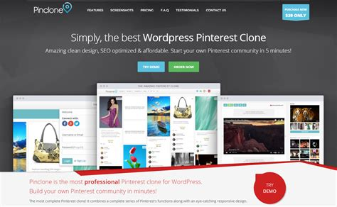 pinterest clone layout pinclone wordpress pinterest clone