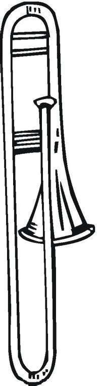 trombone printable coloring pages