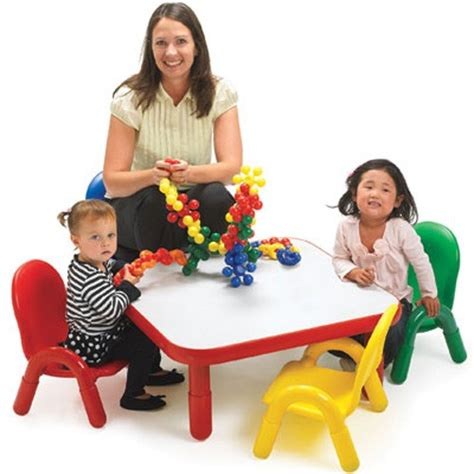 low toddler table and chairs angeles 174 baseline 174 toddler square table and 4 chair set