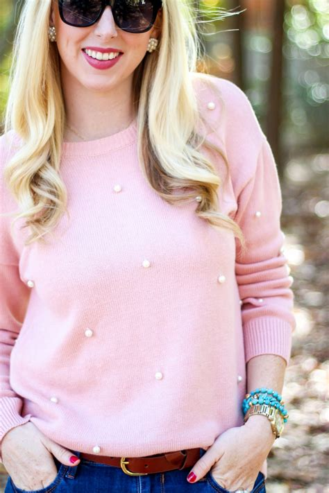 Pearl Embellished Sweater   JC Penney Fashion   Styled Blonde