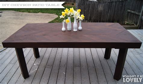 Diy Small Patio Table by Diy Chevron Patio Table Wouldn T It Be Lovely