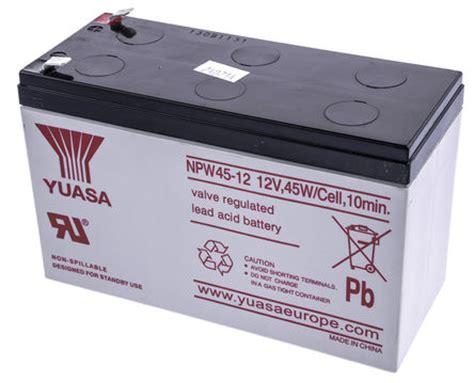 Batrey Yuasa Np 65 12 npw45 12 yuasa npw45 12 lead acid battery 12v 8 5ah yuasa