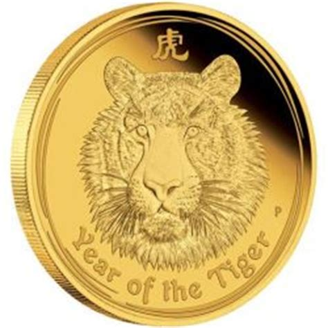 golden jubilee size comparison australian lunar series ii 2010 year of the tiger gold