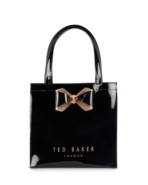 Ted Baker Shopper Bag With Bow ted baker peticon small bow trim shopper bag in black lyst
