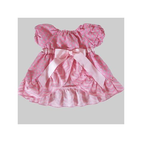 Dress Baby Pink Grey pink and gray chevron ruffled dress and bloomers lucky