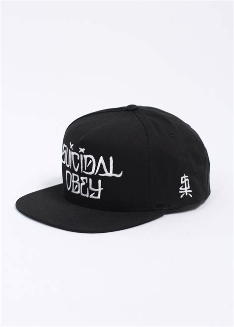 Topi Suicidal Tendencies Snapback 1 obey x suicidal tendencies suicidal snapback cap black