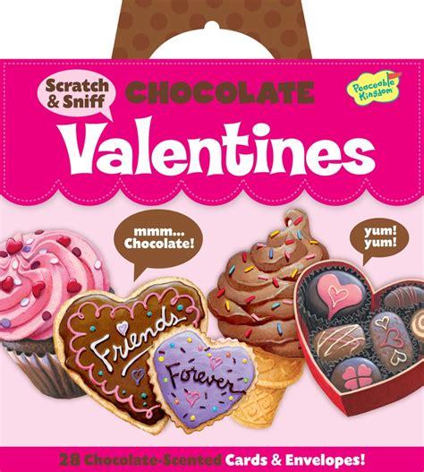 scratch valentines peaceable kingdom scratch sniff chocolate valentines