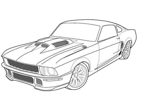 coloring pages muscle cars az coloring pages