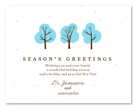 plantable business holiday cards doctors wishes winter weddings business holiday cards