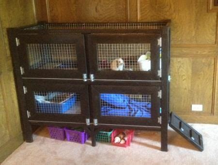 Handmade Rabbit Hutches For Sale - two story rabbit hutch do it yourself home projects from