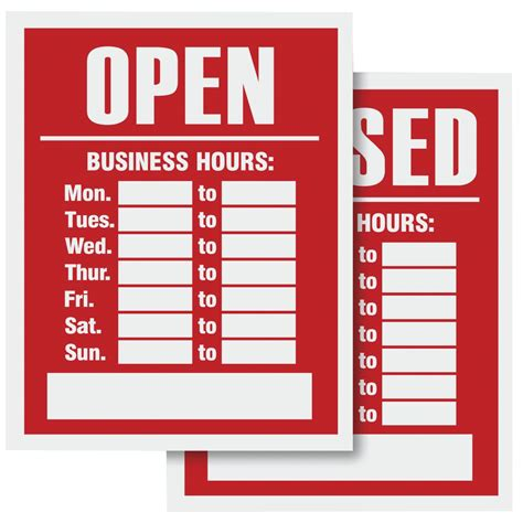 4 best images of free printable business hours sign business hours signage 28 images open closed sign with