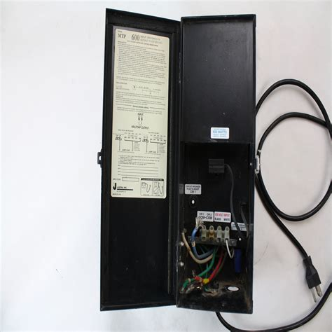 Landscape Lighting Transformers Low Voltage Justin Mtp600 600w Low Voltage Landscape Lighting Transformer Ebay