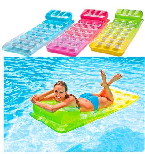 mattress swim float air bed floating raft swimming pool