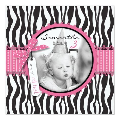 Animal Print Birthday Card Template by Chic Zebra Print Cupcake Birthday Photo Template Card