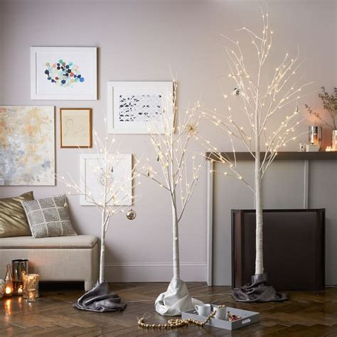 West Elm Tree - modern decorations that will put a sleek spin on