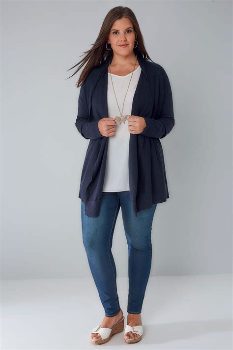 Special Cardi Basic 3tone Pink Cardigan 0109 navy knitted waterfall cardigan plus size 16 to 36