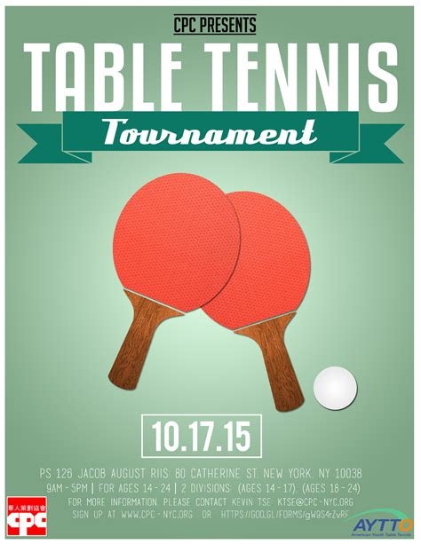 Table Tennis Chionship by Youth Table Tennis Tournament American Planning