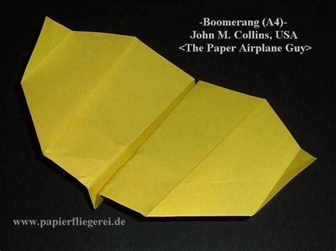 Boomerang Origami - www papierfliegerei de galerie m collins