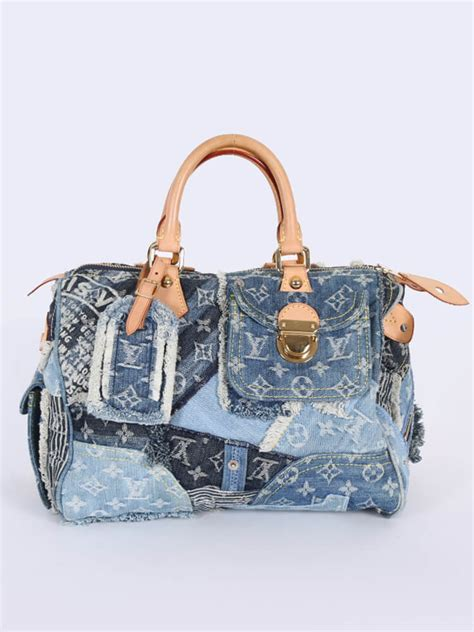Patchwork Louis Vuitton - louis vuitton speedy 30 monogram denim patchwork
