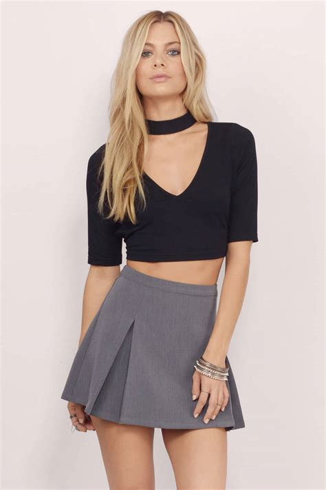 black best trendy black crop top open back top festival top 46 00