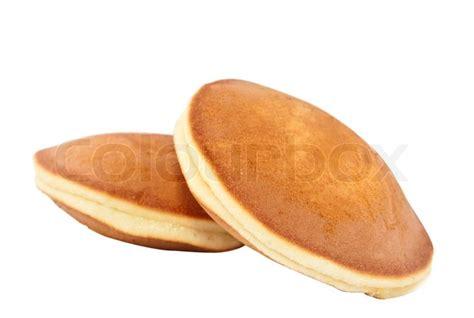 Pancake Colour Box Pancakes On A White Background Stock Photo Colourbox
