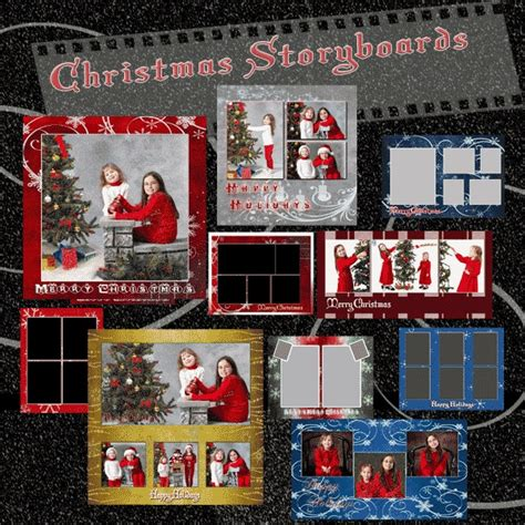 christmas templates for photoshop elements christmas template collection set 1 10 psd holiday