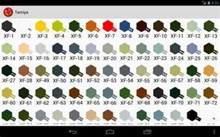 humbrol tabla de colores y equivalencias